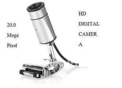 New Silver Retro Tubular Clip on Webcam w/ Microphone Web Camera Chat MSN + free shipping(China (Mainland))