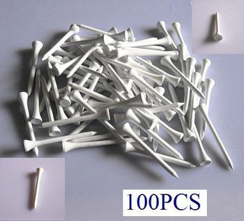 Free Shipping 100 X 70mm Golf Ball Wood Tee Tees White Brand New