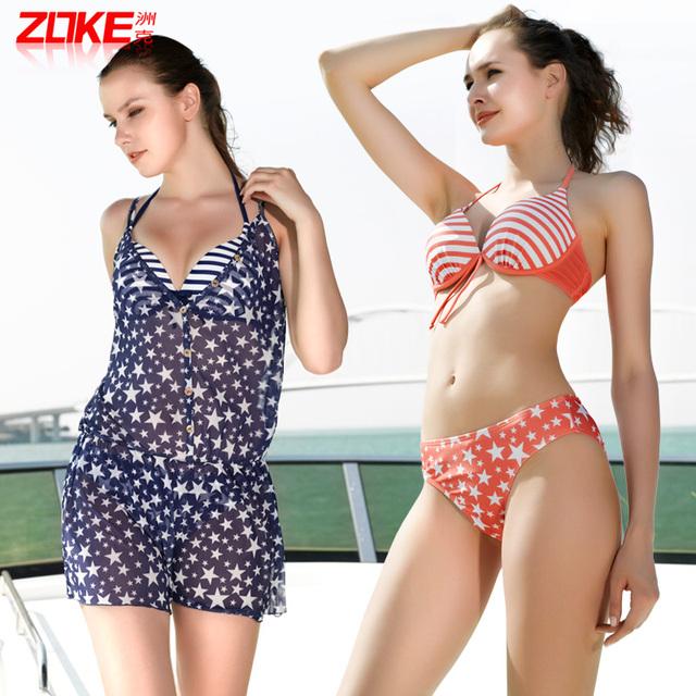2013 plus size bikini swimwear piece set female small steel push up sexy swimwear s