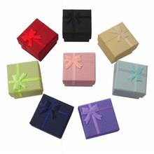 Wholesale Jewelry Box 4*4*3 cm, Multi colors Fashion Rings Box,Earrings/Pendant Box Display Packaging Gift Box 48pcs/lot(China (Mainland))