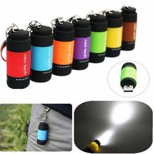 Mini Portable Rechargeable USB LED Light Flashlight Lamp Pocket Keychain Mini Torch Waterproof(China (Mainland))