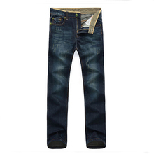 2016  New Men's Jeans Straight Pants Male Long Loose Troubles 35 (China (Mainland))
