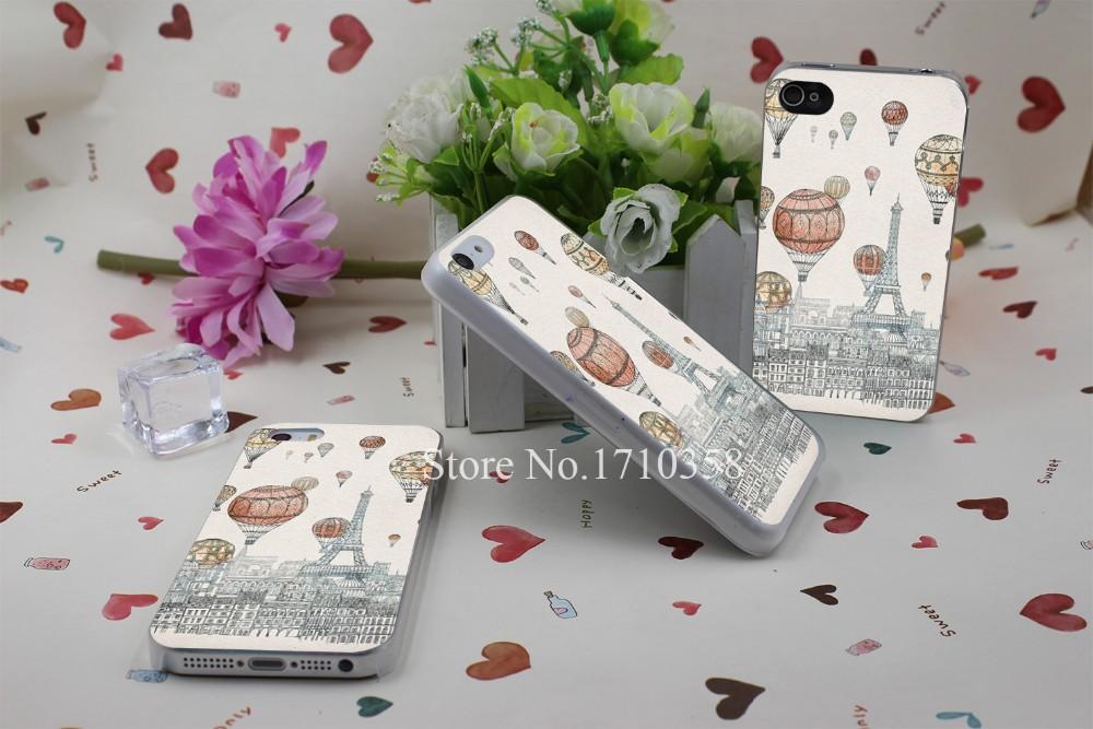voyages over paris Hard Plastic Clear Back Transparent Style Case Cover for iPhone 7 7 Plus 4 4s 5 5s 5c 6 6s 6 plus s