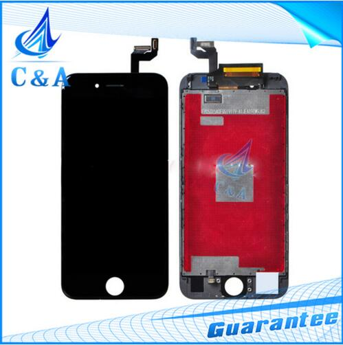 new mobile phone lcd for iphone 6S screen display with touch digitizer frame assembly replacement parts free shipping 1 piece(China (Mainland))