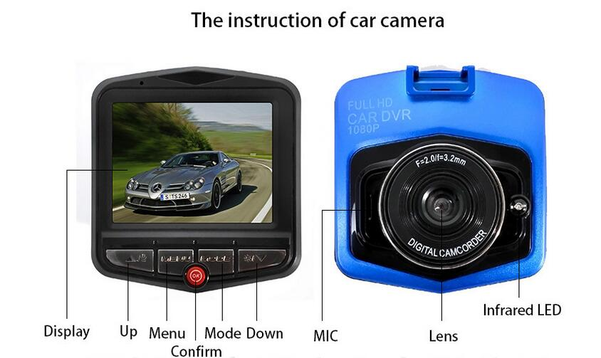 100% Mini Car DVR Camera GT300 Dashcam Full HD Video Registrator Recorder G-sensor Night Vision Dash Cam(China (Mainland))