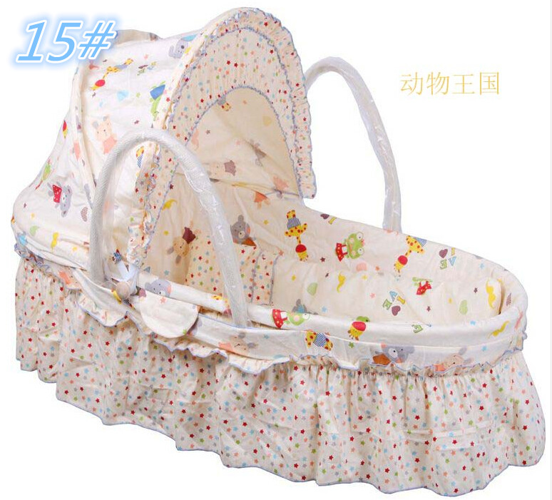 High-quality Mercerized Cotton Baby Carry Cot 2015 New Fashion Baby Crib With Netting Basket for Kids 0-15kg Baby Products <br><br>Aliexpress