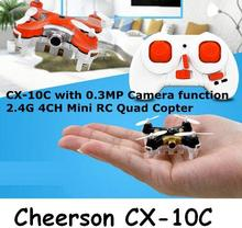 Free Shipping cheerson nano cx-10C cx10C with camera mini 2.4ghz 4ch 6-axis Headless Mode Drone rc remote control quadcopter