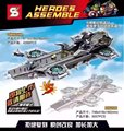 SY911 Super Heroes Ultra large Type Air Warship Bricks Building Block Minifigure Best Toys Compatible with