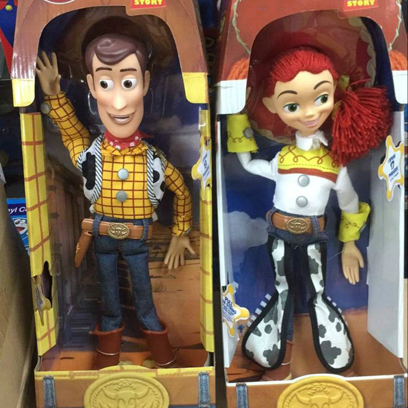Pixar Toy Story 3 Talking Woody& Talking Jessie PVC Action Figure Collectible Model Toy Doll 36cm(China (Mainland))