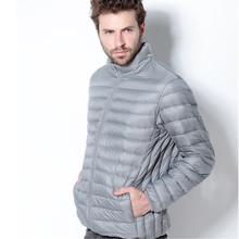 Winter Coat Men Ultra Light White Duck Down Jacket 2015 New Men Stand Collar Portable Parka