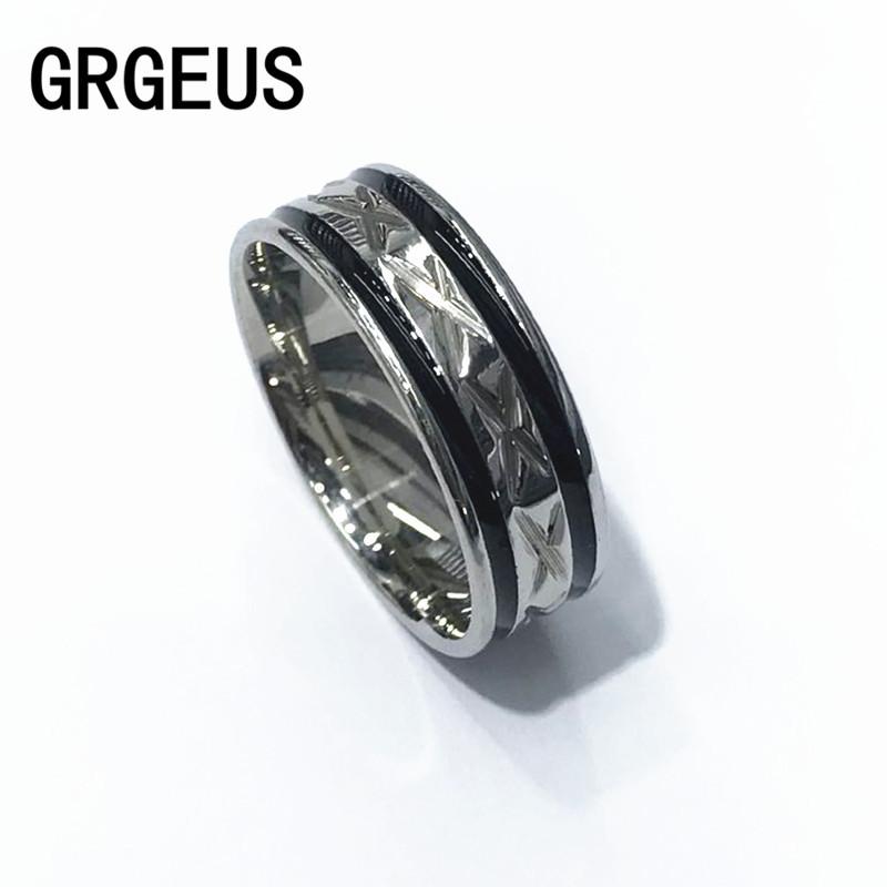 Black Men Ring 100% Titanium Carbide Men's Jewelry Wedding Bands Classic Boyfriend Gift(China (Mainland))