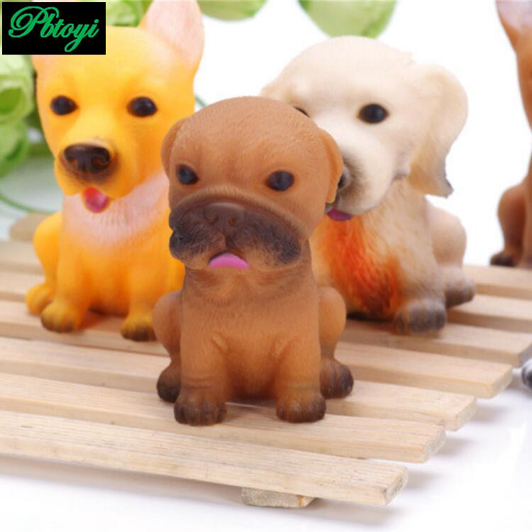 Vinyl pug puppy cute dog rogue funny dog sir vent toys baby dog model vent toys factory direct sales PA0901(China (Mainland))