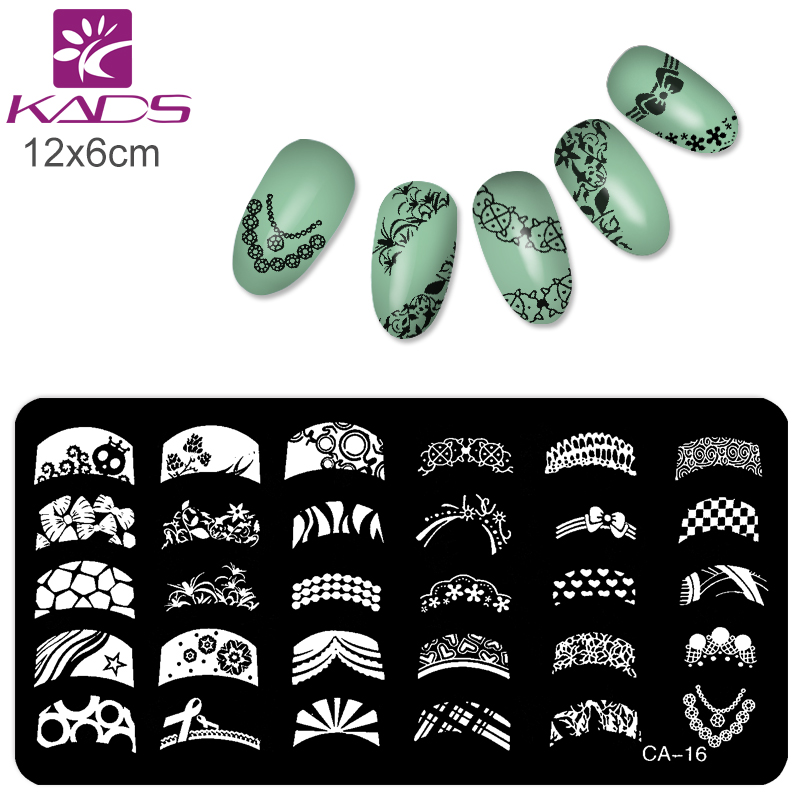 2016 Konad Stamping Nail Art Stencils size 6CM*12CM for Nails Stamp Plates Template Tools(China (Mainland))