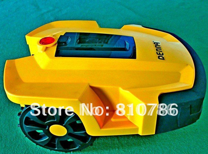 Free Shipping Auto Lawn Mower+2pcs Lithium Battery +4 pcs Blade +Time Setting + Remote Controller+Auto Recharged(China (Mainland))