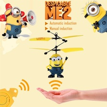 Remote Control RC Helicopter Induction Flying Despicable Me Minion Quadcopter Drone Drone Kids Toy VS Fairy Doll x5sw x5c