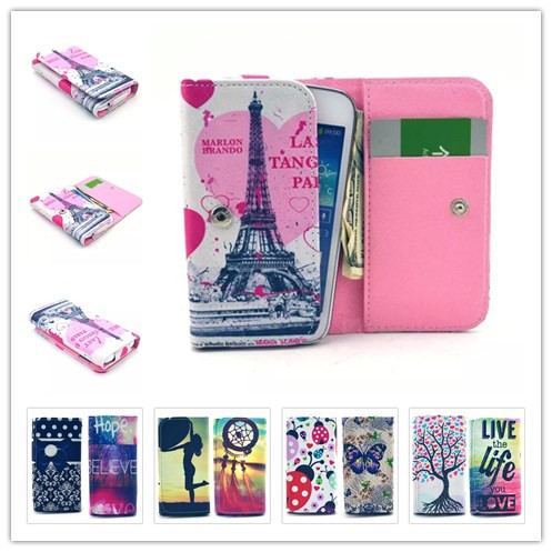 Fashion Dirt-resistant Painting Leather Phone Cases For Tecno Phantom Z mini Wallet Style With Card Slot Back Cover Case(China (Mainland))