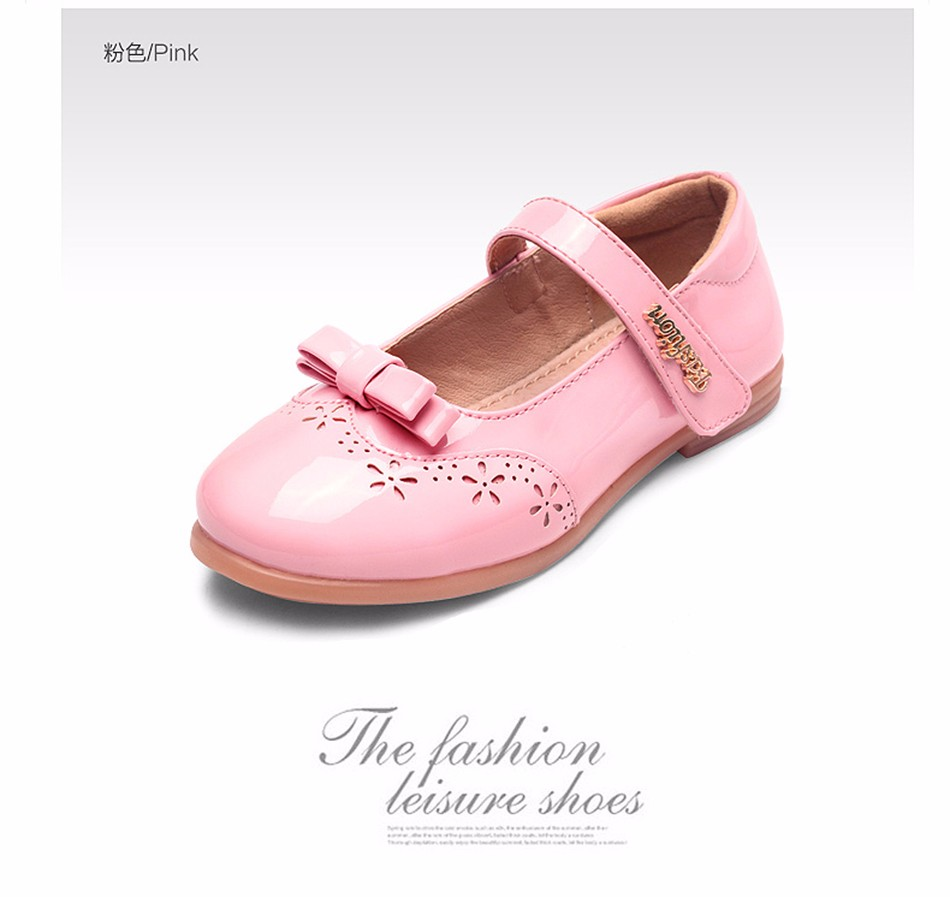 children  girls princess shoes kids girl leather shoes girls dress  students  shoes models bowknot princess shoes