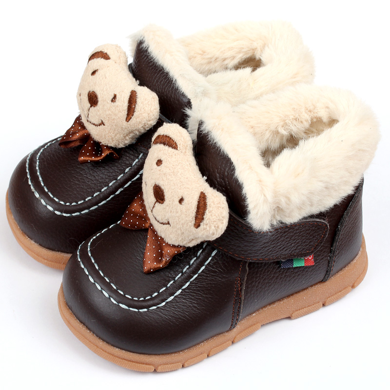 Baby Boots Winter Boy Snow Boots Brand Newborn Leather Baby Boots For Girl Baby Shoes Infant Kid Shoes First Walkers Moccasins(China (Mainland))