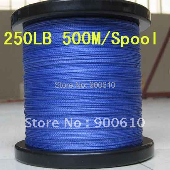 Super Strong 100% UHMWPE 8-Braid Fishing Line 250LB 0.92MM 500M/Reel Free Shipping