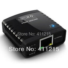 USB 2.0 PC Notebook Ethernet & WiFi (Need extra WiFi Router,Not build in WiFi itself) Network LPR Print Server Printer Share Hub(China (Mainland))