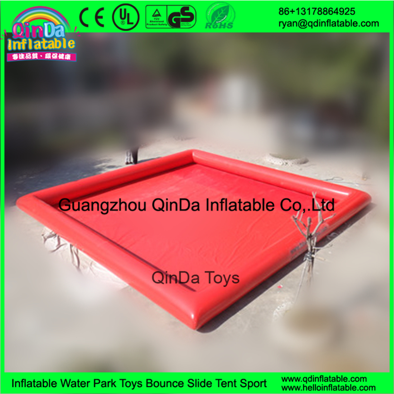 Guangzhou Original manufacturer cheap 0.9mm PVC customized square oval inflatable pool(China (Mainland))