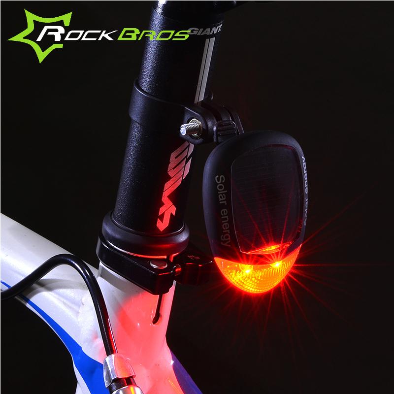 Solar New Power Led Bike Bicycle Cycling Rear Safety Warning Light Tail Light Lamp Flashlight 3 Modes(China (Mainland))