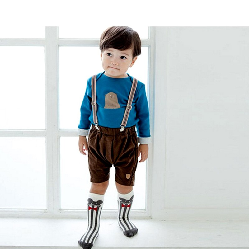 Winter Cotton Animals Baby Socks Printed Knee High Baby Sock Boy Girl Children Socks Anti Slip Cartoon Cat Leg Warmers