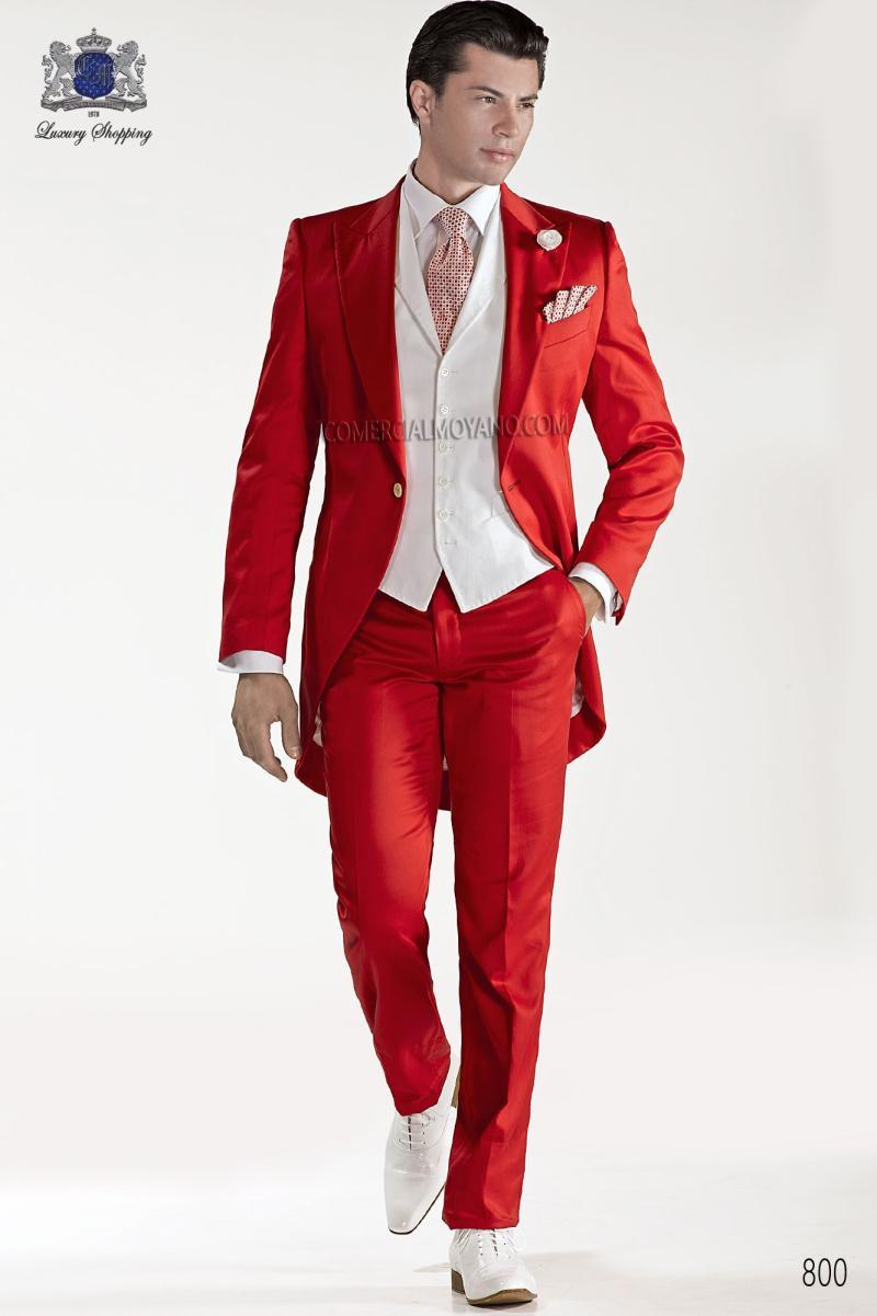 Morning Style One Button Red Groom Tuxedos Groomsmen Mens Wedding Prom Suits Bridegroom (Jacket+Pants+Vest+Tie) K:591Одежда и ак�е��уары<br><br><br>Aliexpress