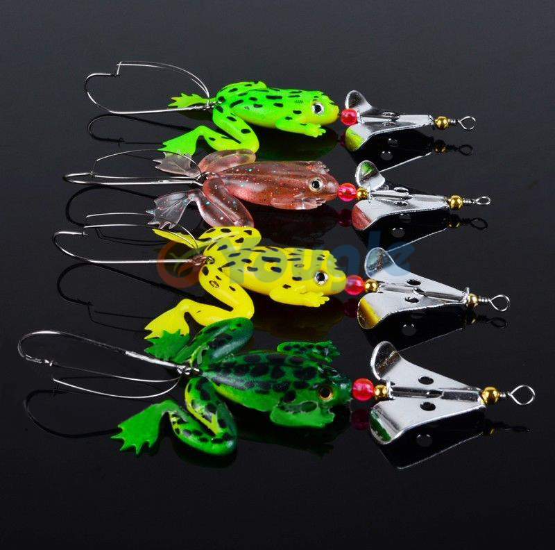 Buy 4 pieces lot rubber frog lure soft for Frogs for fishing