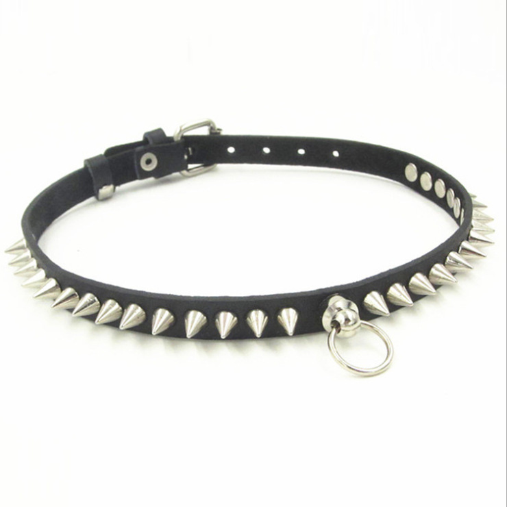 Women And Men Cheap Jewelry Hot Sexy Punk Gothic Lolita Choker Studded Rivet Harajuku 100% Handcrafted Leather Collar Necklace(China (Mainland))