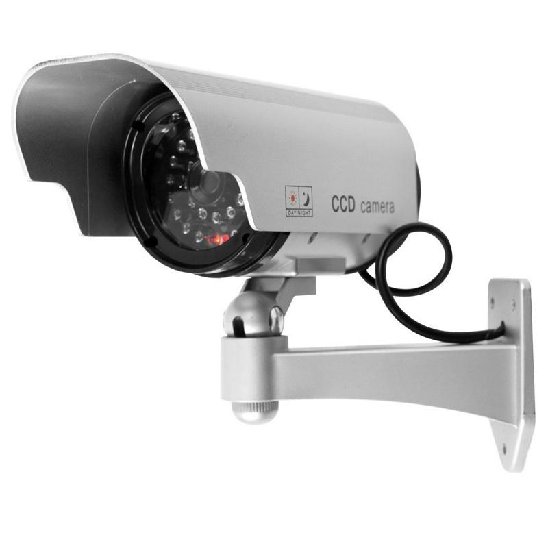 Fake camera Solar powered indoor outoodr Dummy security camera Bullet cctv camera surveillance camaras de seguridad #6(China (Mainland))