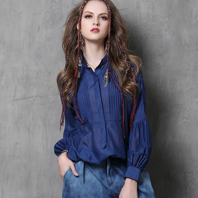 2016 Erupean Style Spring Summer New Vintage 100% Pure Silk Fabric Women Loose Blousees Womens Clothes Blusas Shirt TopsОдежда и ак�е��уары<br><br><br>Aliexpress