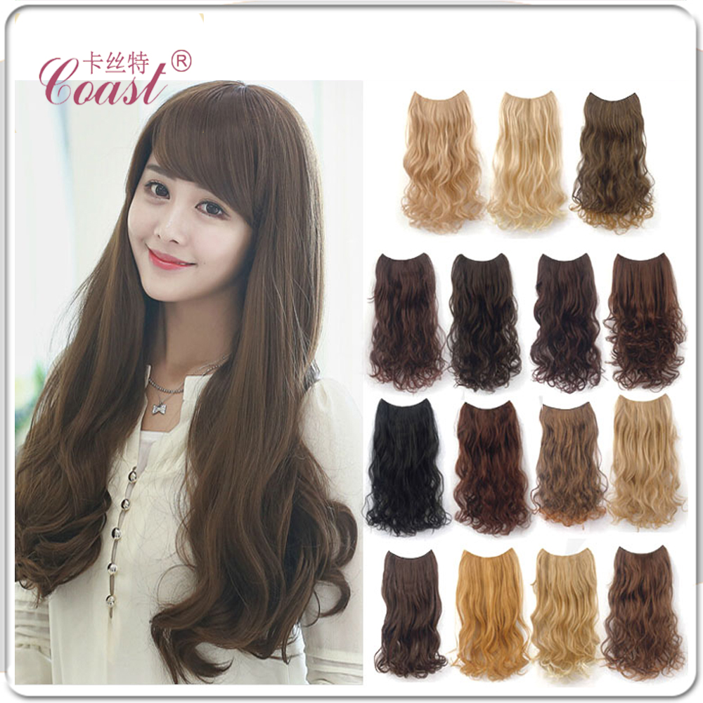 """24"""" (125g) Five Clip In Curly Synthetic Hair Extension Four Single Color Hair Pieces Explosion(China (Mainland))"""