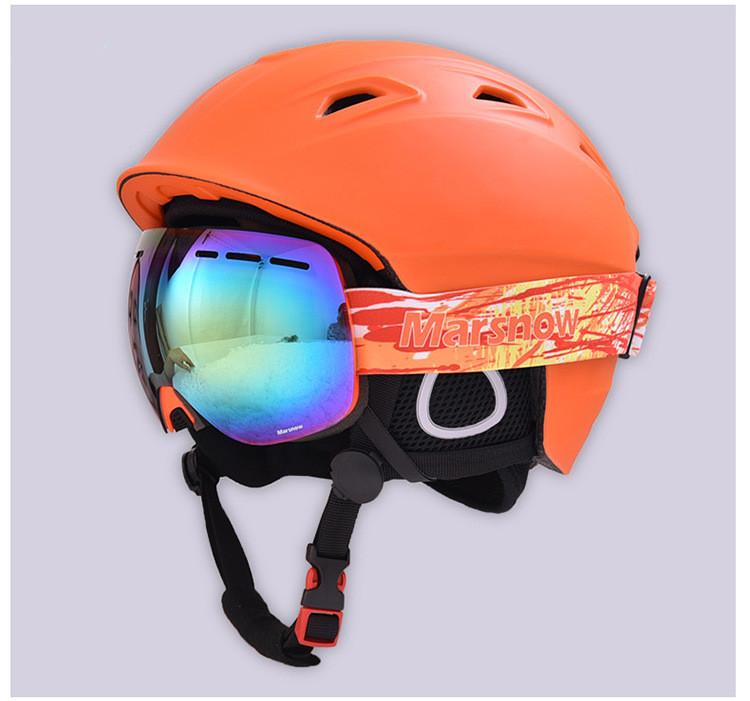 MARSNOW Ski Helmet Integrally-molded Skiing Helmet For Adult and Kids Skateboard/Snowboard Helmet Winter Snow safty Helmets AC-1(China (Mainland))