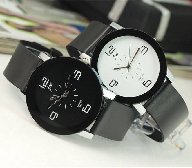 black and white brown arabic men unisex fashion watch women dress caual gift lady girl child kids simple wristwatch hour new hot(China (Mainland))