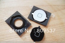 Home Button Key With Rubber Spacer For Apple Iphone 4S 4GS Original New Black White(China (Mainland))