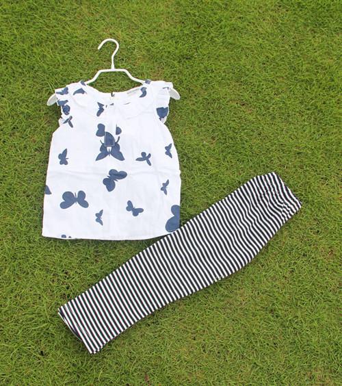 Юмор Медведь дети комплект одежды футболка + брюки цветы набор детей новорожденных ...
