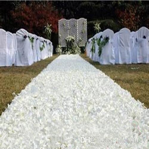1 4 M Width Romantic White 3d Rose Petal Carpet Aisle