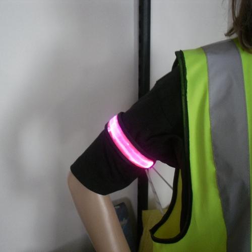 Luminous Fashion Flash Armband LED Flashing Armband Wrist Strap Glowing Armband for Outdoor Sports Safety(China (Mainland))