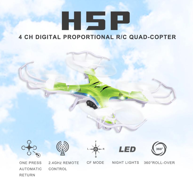 JJRC H5P 4 CH 6 Axis Gyro Camera recordinng Quadcopter 2.4G RC Drone W/ 2.0MP Camera One key return drone W/ CF Mode LED Light