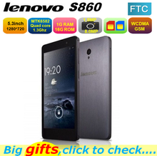 D'origine Lenovo S860 mobile téléphone Quad Core MTK6582 1.3 GHz 5.3 polegada IPS 1280 x 720 Android 4.2 1 GB 16 GB 4000 mAh batterie(China (Mainland))