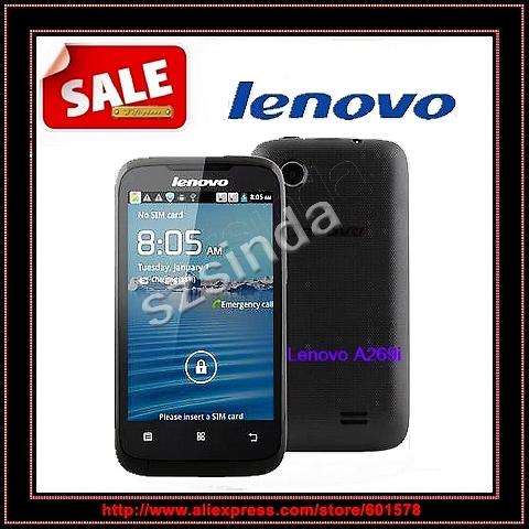 Original Lenovo A269 A269i 3.5inch Android phone MTK6572 Dual Core WIFI WCDMA Google Play Root unlocked Cell phone(Hong Kong)