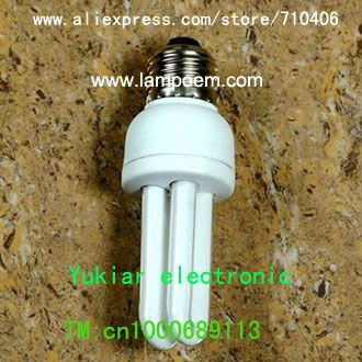 Energy Saving Lamp 2U 7w AC220V cfl energy saving bulb Compact Fluorescent Lamp(China (Mainland))