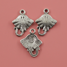 25pcs 21*13 mm Stingray fish Charms Pendants Jewelry Making Handmade,Antique Silver Plated,DIY Bracelet Necklace
