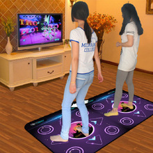 HOT!new Double dance pad dance mat 8mm Non-Slip Dancing Step Dance Game Mat Pad for TV&PC with USB Free shipping