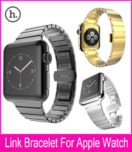 New For HOCO Apple Watch Link Bracelet Band 38mm 42mm Silver Stainless Steel Strap With Metal Adapter Quick Release Watchbands