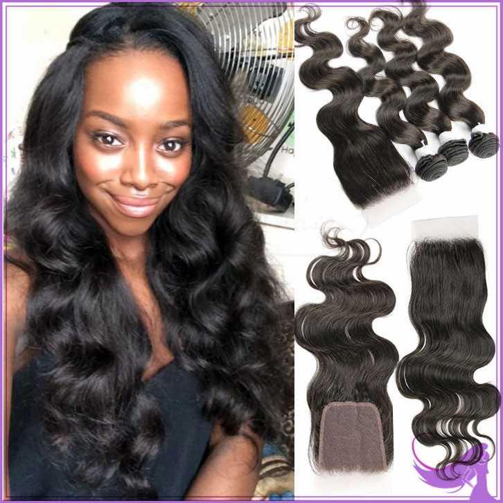 7a Peruvian Virgin Hair With Closure Peruvian Virgin Hair Body Wave With Closure Peruvian Body Wave Hair Bundles With Closures(China (Mainland))