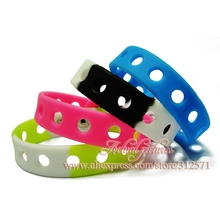 hot 14 styles choose 1pcs Multi color 21cm silicone wristbands bracelets fit shoe charms fashion decoration children gifts(China (Mainland))