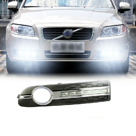 Free shipping 1:1Replacement Daytime running light LED DRL Daytime Running Light for with fog lamp cover for 2009-2012 Volvo S80(China (Mainland))