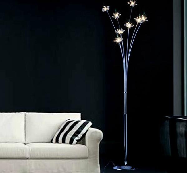 twiggy lampada da terra in cristallo illuminazione casa camera da ...